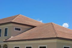 finished clay roof