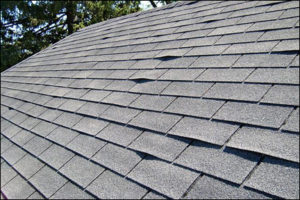 Re-adhering sections of buckling and/or curling shingles